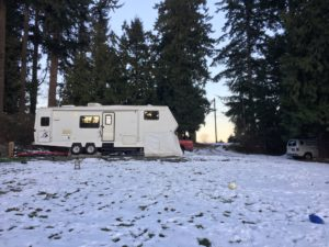 Snow, winter, wa, rv