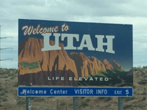 rv park, rv travel, rv, utah, salt lake city, slc, air force, tourism, tourists, tourist, fam camp, camping, glamping, visiting utah, travel, weird utah, road sign, road attraction, state line, welcome, road trip