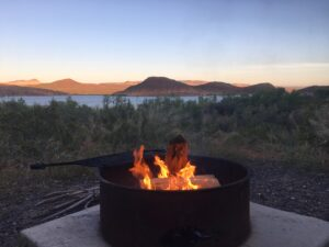Caping, camp fire, nature, glamping, fire, Utah, Quail Creek park, UT, RV life, RV travel