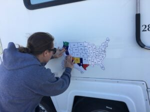 Magnetic Us Map For Rv What Qualifies a State Sticker on an RV Map? – Accidental Snowbirds