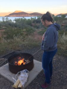Smores, Chocolate, Campfire, Camping, Fire, Glamping, food, nature, RV life, RV travel, Utah, UT, Quail Creek Park