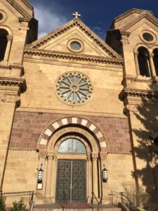 church, church picture, santa fe, nm, new mexico, downtown, downtown santa fe, history, christianity, tourism, tour, tourist