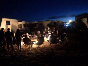 Fire, camping, glamping, rv life, rv travel, xscapers, Santa Fe NM, NM, New mexico, night sky