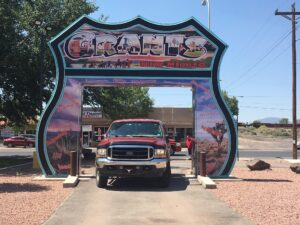 rv life, rving, route 66, tourism, tourist, Grants, NM, New Mexico, route 66 sign, traveling, travel rv, rv,