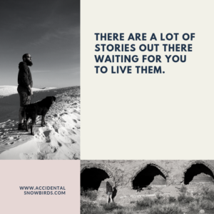There are a lot of stories out there waiting for you to live them, quote, insperation, nomad life, digital nomad, life on the road, road life, RV life, quotes, inspirational quotes, life quotes, author, story, life story, traveling, traveling life, lifestyle